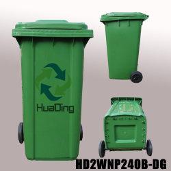 240L de plastic Vuilnisbak van het Wiel van de Bak van het Huisvuil Rubber voor Openlucht hD2wnp240b-DG