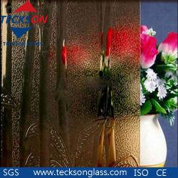 3-8 mm Bamboo claire pour la construction de verre en verre à motifs