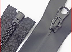 TPU invisible en nylon imperméable en plastique PVC/fermeture à glissière de PU