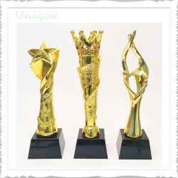 Disponible al por mayor de la fábrica de metal del molde de cristal el premio de la Copa Sport+resina/ Aleación de zinc de la medalla de oro y plata regalo de recuerdo para el trofeo de ajedrez