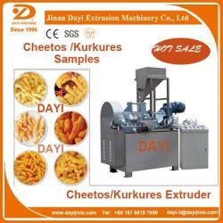 Les boucles de maïs/Kurkure/Cheetos/maïs Grits de nourriture et de la machine de traitement de l'extrudeuse avec machine d'emballage de ligne