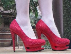 Rhinestone Hoch-Fersen Kleid-Schuhe 2012