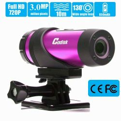 High-Definition Sport Action Camera, 1080P720p Wide hoek Camcorder