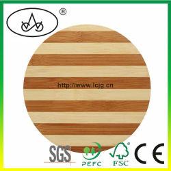 Placemat Pés de borracha Tapete Mesa Pad Louça de loja Dom Ronda de bambu Coasters