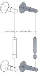 Eingehangenes System-Fahnen-Innenaluminium/Edelstahl/Messingzeichen-Panel-Befestigung