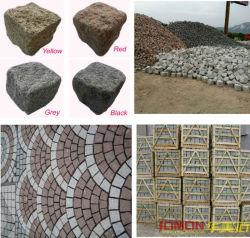 Природного гранита асфальтирование камня, кубический камень Найджелом Пэйвером (XMJ-PS01)