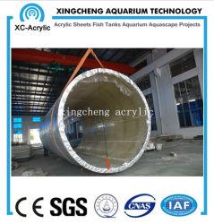 Cilindro de acrílico UV transparente personalizada Aquário do tanque de aquário