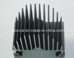 Kundenspezifisches elektrolytischer Kühlkörper-Aluminiumprofil für Elektronik mit der Farbe anodisiert