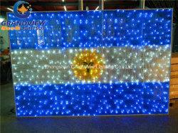 Argentinien-Staatsflagge für im Freien Motiv-Licht der Dekoration-220V/110V LED