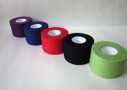 2019 Commerce de gros adhésif Coton rigide Sports bande cohésive oxyde de zinc Sport Bandage de bandes coton coloré Sport bande rigide