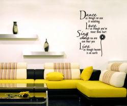 """卸売""""DanceようにNo One """" Wall Stickersの寝室Home DecorationsのRemovable Quote Wall Decals Hot Sellingの居間Wall Art"""