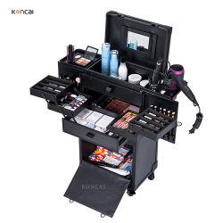 Maquilladora profesional Rolling Maletín Salón de belleza Peluquería equipo caja de almacenamiento