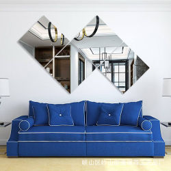 Carreaux Leitai miroir mural 22*22cm 4PCS Frameless ensemble miroir simple