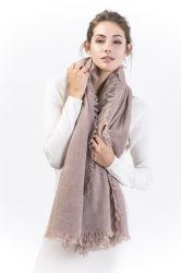 100% puros Alashan Cashmere lenço de franja de moda para Senhoras