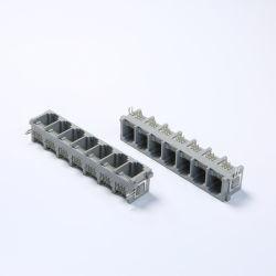 1X7 порта RJ11 разъема печатной платы с правым углом