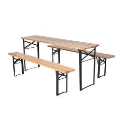 خشب خارجيّ بالجملة يطوي جعة حديقة طاولات مع جعة مقعد