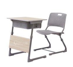 Neuer hölzerner Metallkursteilnehmer-Schreibtisch und Stuhl-Schulmöbel