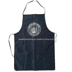 OEM Custom logotipo impreso azul marino PE PVC barato Cocina Babero delantal promocional