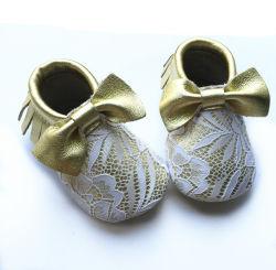 Custom unisexe Mocassins cuir Chaussures de bébé