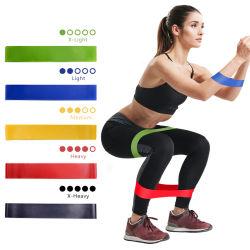 De elastische Gom van de Gymnastiek van het Elastiekje van de Geschiktheid voor de Sterkte van de Band van de Weerstand van de Opleiding van Pilates van de Oefening van Crossfit van het Latex