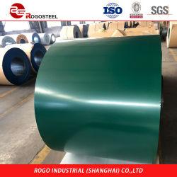 PPGI ha galvanizzato il PVC filmato l'acciaio ricoperto colore d'acciaio di Ral Manufecture di colore verde