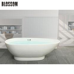 독립 구조로 서있는 목욕 통을 적시는 목욕탕 현대 백색 아크릴 사치품