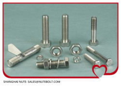 Bullone a testa esagonale in acciaio inox DIN933ANSI M27X60, filettatura intera A M27X260