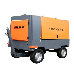 Высокопроизводительный промышленный дизельный двигатель с прямым приводом портативный винтовой тип воздушного компрессора для добычи полезных ископаемых сверления
