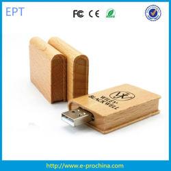Reservar una unidad flash USB/Promocional USB de forma de libro de madera (EW518)