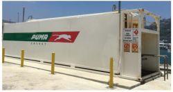 MOBIEL tankstation VAN 20 EN 40 METER met brandstofdispenser