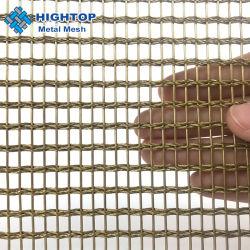 Malla tejida de latón personalizada flexible Cortinas para la construcción de la Decoración