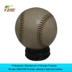 Le baseball don fait par le bois massif Bricolage cadeau unique
