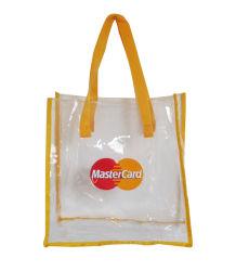 El vinilo de plástico Bolsas de la compra de regalos Tiendas de PVC transparente en el Bolso Bolso transparente reutilizables.