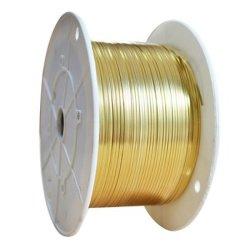Rond jaune sur le fil de laiton pour la décoration /l'ornementation