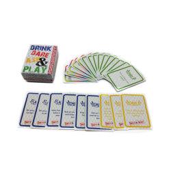 Scheda di gioco su ordinazione personalizzata della mazza della carta da stampa della scheda della mazza