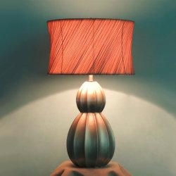 La céramique et le tissu de l'ombre lampe de bureau de l'intérieur fluorescent lampe de table