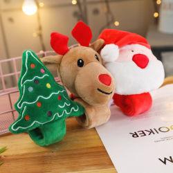 かわいいクリスマスのプラシ天の非難のブレスレットのリスト・ストラップのHairband Xmasのおもちゃ
