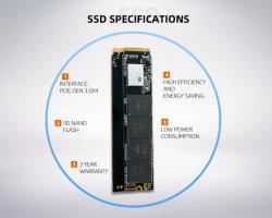 M. 2 SSD Pcie 256GB SSD M2 Nvme M. 2 SSD M Key 1tb HDD voor Desktop Laptop Internal Hard Drive