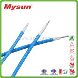 Certificat UL 3122 tresse en fibre de verre flexible en caoutchouc de silicone sur le fil électrique fil haute température fil interne