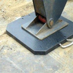 Móvil personalizada Tough UHMWPE/HDPE grúa plástico /Vía Outrigger pads con la mano