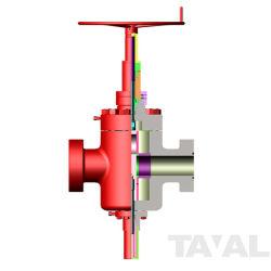 ASTM 4130 4-1/16 인치 10000psi 공 나사 게이트 밸브 플랜지 끝 수동 핸들