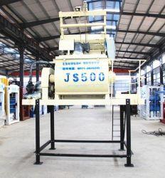 Js500 Concreto Seca /Misturador de cimento de plástico para a construção