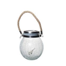 Lanterne solaire Outdoor pendaison lumière solaire LED lumière solaire Mason Jar fissure de décoration en verre de lampe de table Cadeaux