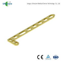 Rádio distal L de travamento da placa óssea de compressão, o LCP, titânio, implante ortopédico, trauma, instrumentos médicos, instrumento cirúrgico, com marcação CE/ISO