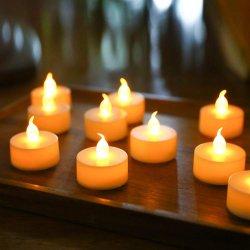 Branca quente de oscilação na alimentação a pilhas Flameless Chá LED luz de velas