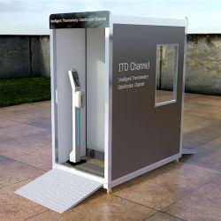 公共の場の伝染性温度の測定の消毒部屋のトンネルのための移動式消毒チャネルの殺菌