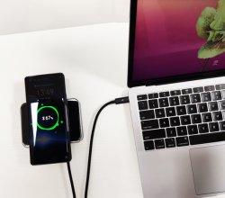 Riy 20000mAh 45W Palladium-drahtlose Aufladeeinheit Graphene Energien-Bank PRO für MacBook mit Glasladung der oberflächen-60W des Input-2hours völlig