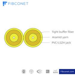 FTTH Оптоволоконный GJFJBV кабель для внутренней установки двусторонней плоской рис. 8 Zipcord оптоволоконный кабель с разъемом быстрого