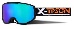 Novos Goggles de esqui UV400 antiembaciamento óculos de neve em espuma amovível personalizada