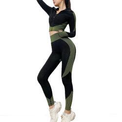 Suíte de ioga perfeita para as mulheres a Primavera e Verão novo trecho de elevação do quadril em malha Exercício Fitness Freedom Definido